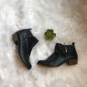 Lucky Brand Shoes - Lucky Brand Black Basel leather bootie